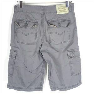 Levi's Boy's Cargo Shorts 16 Regular Gray